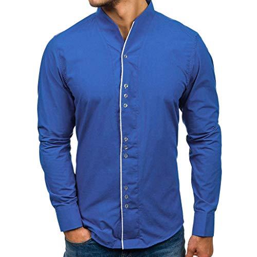 Męska koszula na co dzień moda zima jesień swobodny dekolt w serek wygodne rozmiary guziki długi rękaw rekreacyjna bluzka z długim rękawem koszula z długim rękawem jednolity kolor impreza wesele koszula bluzka rekreacyjna