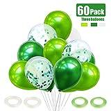 60 Pièces Ballon Vert Foncé, Ballon Confettis, Ballon Anniversaire, Ballon Bapteme,...