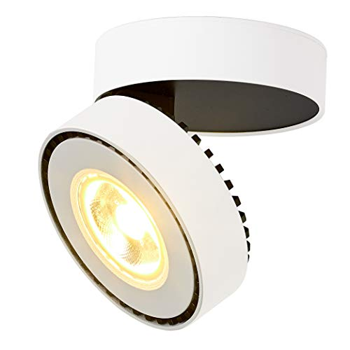 Dr.lazy 12W LED Aufbauleuchte Deckenleuchte,Deckenspots, wandleuchten,Deckenfluter,Deckenstrahler,DeckenLampe,Deckenbeleuchtung,Falten Drehen Aufputz Deckenleuchte,Aluminium,10x10x6CM (Weiß-3000K)
