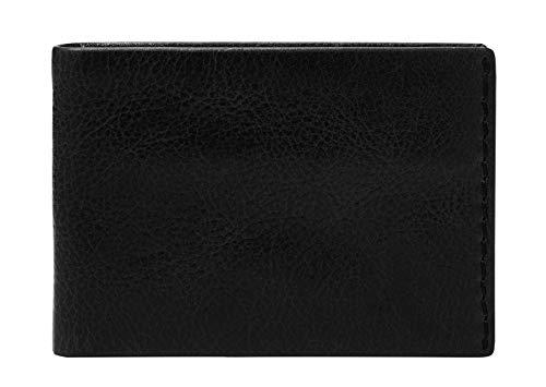 Fossil Beck Front Pocket Wallet-Bifold aus schwarzem Leder für Herren ML4227001