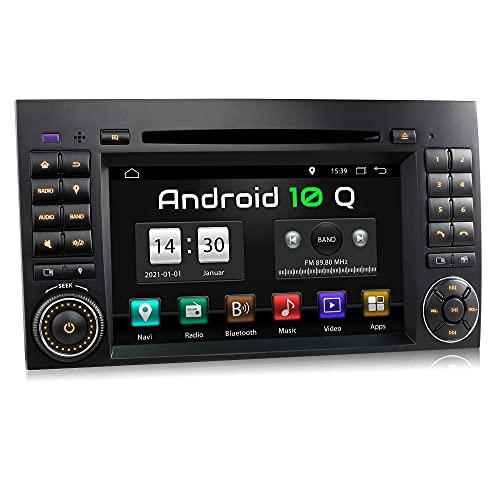 XOMAX XM-D10ZA Radio de coche con Android 10 adecuado para Mercedes A/B W169 I 4Core, 2GB RAM, 32GB ROM I GPS I Soporte WiFi, 3G, 4G, DAB+, OBD2 I Bluetooth I 7' Pantalla Táctil I DVD/CD, USB, SD, RDS