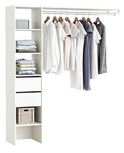 Miroytengo Armario vestidor de Pared Dúo Blanco habitación Dormitorio Juvenil Matrimonio Moderno 187x160x40 cm