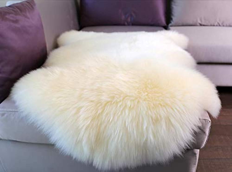 Woolous Genuine New Zealand Sheepskin Rug Area One Pelt Ivory Natural Fur, Single,2x3 feet (Ivory)