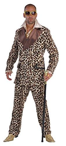 narrenkiste M212208-XXL Herren Gangster-Prollo Anzug-Kostüm Leoparden Look Gr.XXL