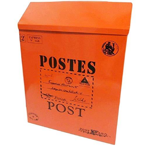 WJJ Cassetta Postale Esterno Vintage Post Box Mailbox Antico Americani Retro Posta Postcard Box Multiuso Letterbox Multicolore Impermeabile A Parete Cassetta Postale Condominiale (Color : C)