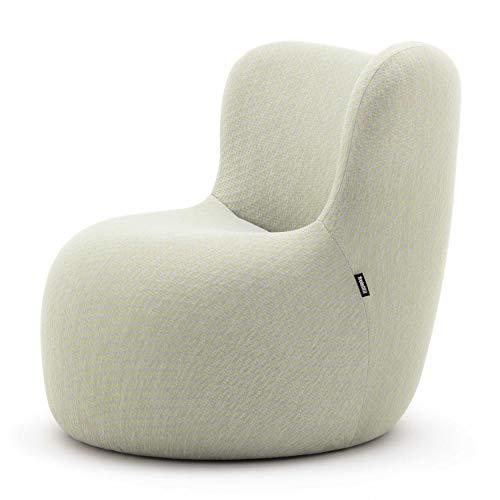 Freistil 173 Strick Sessel, weißgrün BxHxT 76x75x82cm mit Kunststoffgleitern