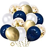 Navy Blue and Gold Confetti Ball...