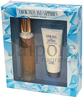 Elizabeth Taylor Diamonds and Sapphires 100ml EDT + 100ml Perfumed Body Lotion, 200 ml