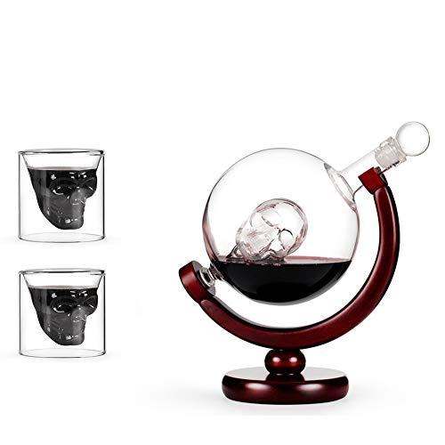 Liquor Karaffen, Creative Skull Head Decanter Borosilicate Glazen Karaf Rode Wijn Glaskop Whiskey Glas Voor Witte Wijn Bar Best Gift
