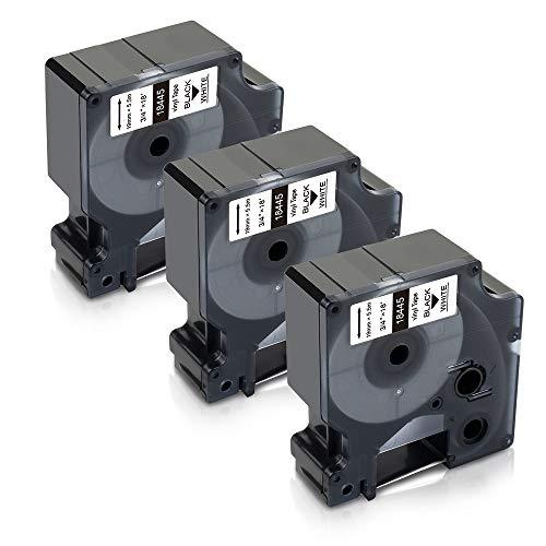 Xemax Compatible Cintas Reemplazo para Dymo Rhino 18445 S0718620 Vinilo industrial Etiquetas...