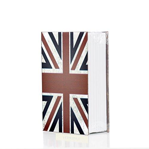 Safebook Great Britain - Caja fuerte con cerradura de combinación (tamaño pequeño)