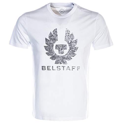 Belstaff Herren T-Shirt mit Rundhalsausschnitt Coteland 2.0 XL White