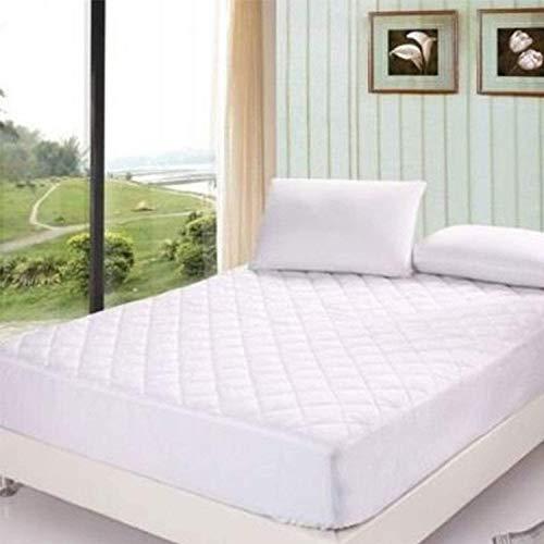 Protector de colchón acolchado – Funda extra profunda de 30 cm | súper suave y transpirable 100% algodón | Fácil de cuidar, no alérgico y antiácaros.