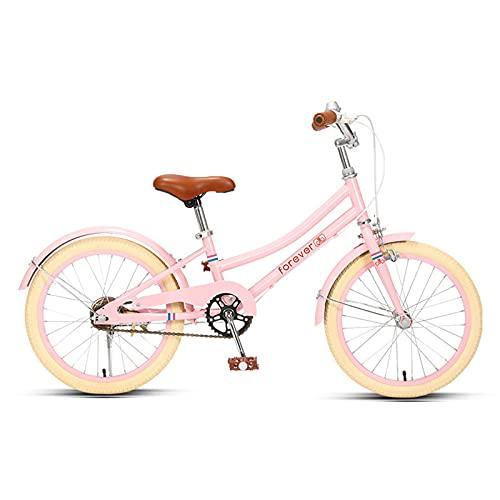 ZXQZ Bicicleta de 18 '' / 20 '', Estructura de Acero con Alto Contenido de Carbono de Poca Luz, para Niños con Una Altura de 115-150cm (Color : Pink, Size : 20'')