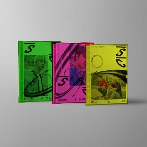 EXO-SC - [What A Life 1st Unit Mini Album SC2019_P Ver CD+1p Folding Poster/On+Booklet+1p PhotoCard+Tracking K-Pop Sealed