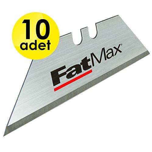 Stanley FatMax Trapezklingen (0.65 mm Klingenstärke, S3-Technologie, bruchfest bis zu 35 kg, 10 Stück im Spender) 2-11-700