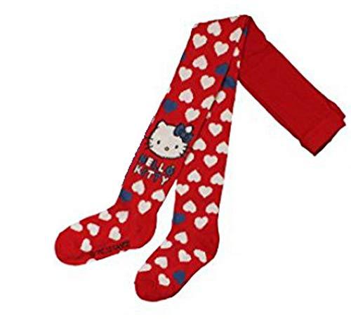 Hello Kitty Leotardos para ni&ntilde corazones - 116/122 - rojo