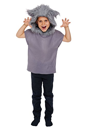 Unisex Children Wolf Animal Costume Kids Fancy Party Wear Fancy Dress Top
