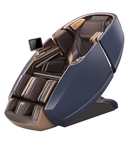 Naipo 3D Massagesessel Raumkapsel-Design Massagestuhl für Ganzkörper, mit Wärmefunktion, Luft-Massage-System, Schwerelosigkeit, Shiatsu, Klopfen, Kneten, LED, Bluetooth Wadenmassage, Fußrollenmassage