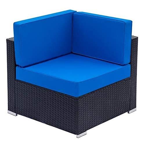 T-ara Suave y Confortable Gran Esquina de sofá-ratán Negro diseño de Moda