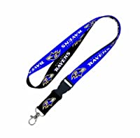 NFL Baltimore Ravens Lanyard with Detachable Buckle