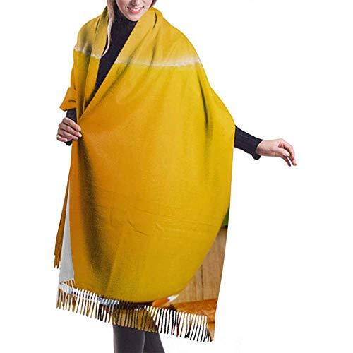 27 'x 77' meisjessjaals, geel, heerlijk mango-sap winter kasjmier sjaal print sjaal stijlvolle grote warme deken