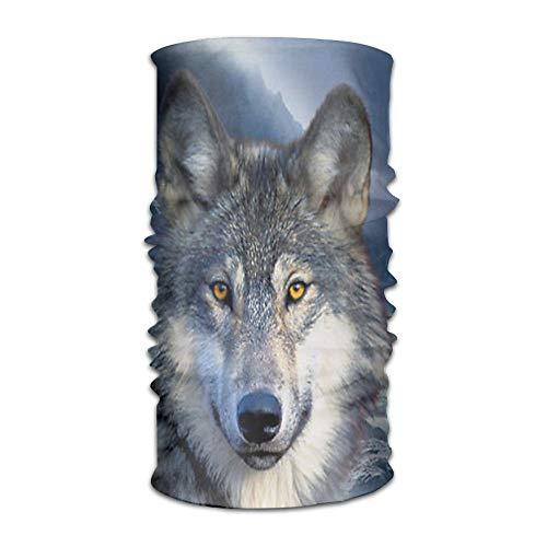 jingqi NavyLife Women Men Wolf Moon Howl Fashion Headscarf Outdoor Sport Headwear Bandanas Multifunction Magic Scarf,Neck Gaiter,Hand Wrap,Neck Balaclava for UV Resistence