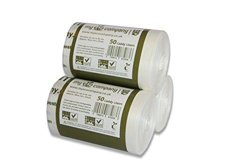 My Eco Company 5L/6L/Kompostierbare Müllbeutel für Lebensmittelreste und Kompost,  150 Stück (5Liter/6Liter)