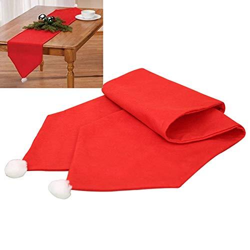 Mesa corredor 35 × 180cm de Navidad Camino de mesa Eva Bandera Tabla cubierta del paño de Santa Claus Styling corredor de la tabla del sombrero de Navidad borlas Tabla Cena de Navidad decoración de la