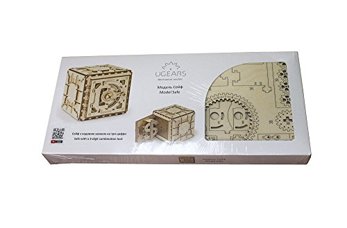 Casse-tête 3D en Bois pour Adultes Modèles de Coffre-fort Ugears - 2