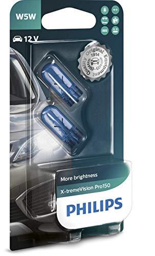 Philips X-tremeVision Pro150 W5W bombilla de señalización, blister doble