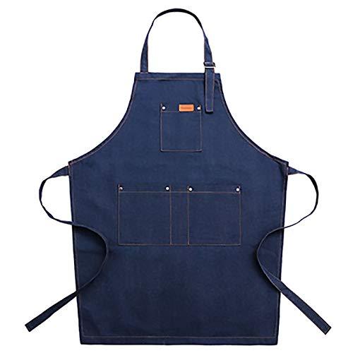LRL Multifunktionsschürze Schürze - einfache Blaue Schwarze Uniform Unisex Erwachsene Jeans Schürze Frau Mann Männliche Dame Küche Kochen Beständig gegen Fettflecken (Color : #2)