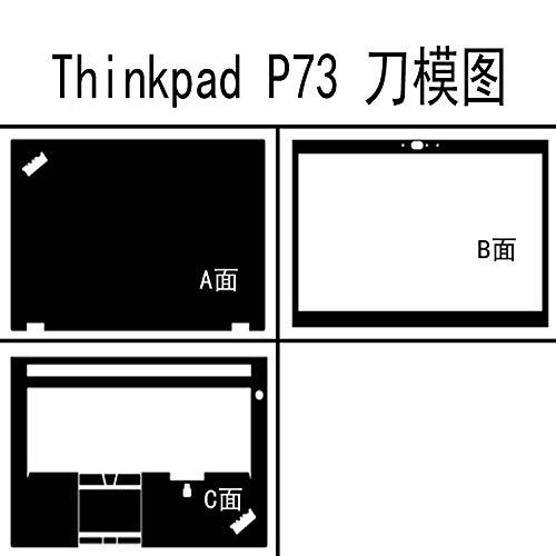 Laptop Black Matte Vinyl Skin Sticker Cover For Lenovo Thinkpad P73 17.3-inch