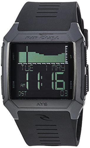 Rip Curl Men's 'Rifles' Quartz Stainless Steel and Polyurethane Sport Watch, Color:Black (Model: A1136-MID)