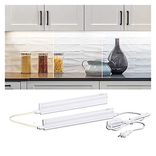 Conjunto completo LED Luces de cocina debajo del gabinete Armarios de luz Armarios Lámpara de armario 220V / 110V 30 cm Barra de tubos para la iluminación del baño del hogar (Color : Cold white)