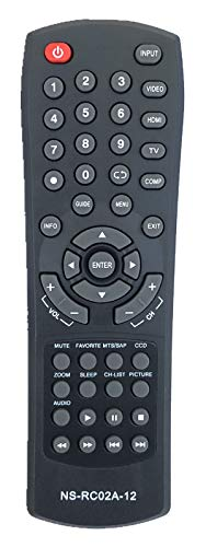 USBRMT New Insignia Replacement Remote Control NS-RC02A-12 for Insignia TV NS-15E720A12 NS-19E450A11 NS-22E730A12 NS-24E730A12 NS-26L450A11 NS-32E570A11 NS-37L760A12