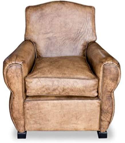 Casa Padrino Echtleder Sessel Buffalo Leder/Antik-Braun - Clubsessel - Lounge Sessel - Vintage