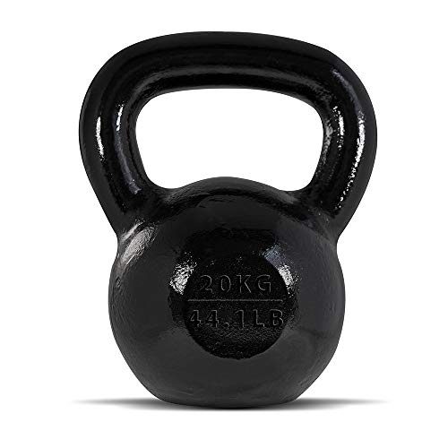 BodyRip 20kg Cast Iron Kettlebell | Easy Grip Handles, Ergonomic | Gym Equipment, Home, Fitness, Gymnastics, Exercise, Workout, Cardio | Weights Good for Men and Women