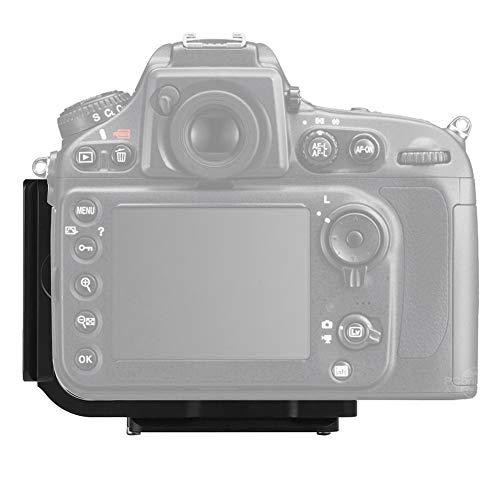 QR L-förmige Kamerahalterung,Schnellwechselplatte für Kamera L,vertikaler Griff für Nikon D800/D810/D800E, mit 39mm AS Interface,1/4'' Schraubhalterung für Arca Quick Release Platform,Stativ,Schiene