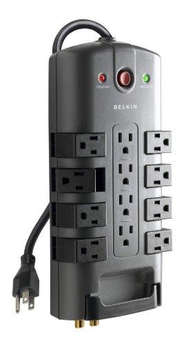 Belkin 12-Outlet Pivot-Plug Power Strip Surge Protector, 8ft Cord(4,320 Joules)