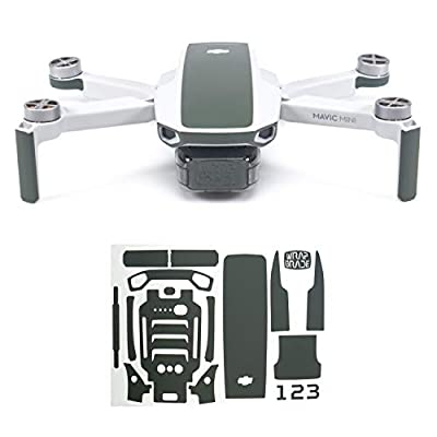Wrapgrade Skin for Mavic Mini | Accent Color (AIRFORCE SILVER)