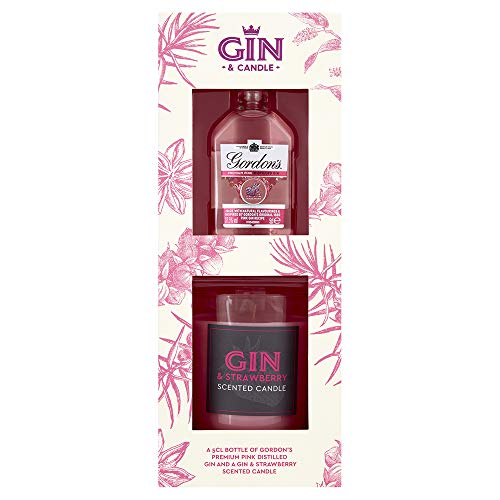 £5 Pink Gin & Strawberry Scented Candle Gift Set at Amazon