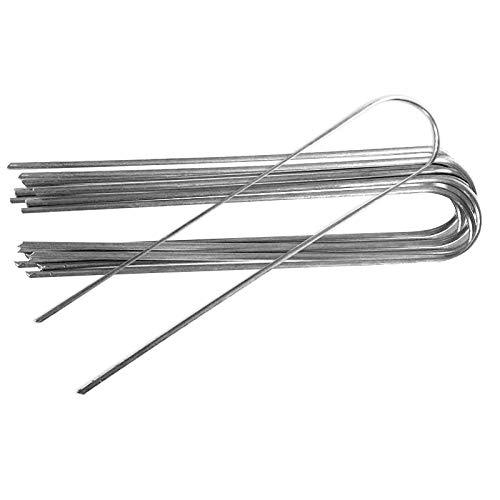 30 Stück verzinkt Erdanker Bodenanker lang Heringe Erdnägel aus Stahl zur Befestigung von Unkrautflies, Garten Vlies, Zelt oder Schlauch - 150 x 30 mm - Ø 2.5 mm