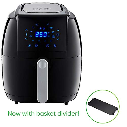 GoWISE USA GW22921-S 8-in-1 Digital Air Fryer with Recipe Book, 5.0-Qt, Black
