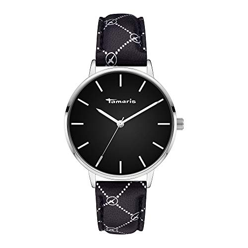 Tamaris Damen Analog Quarz Uhr mit Leder Armband TT-0019-LQ