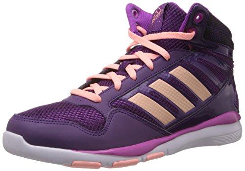 adidas Performance Dance Mid K D67293, Unisex - Kinder Sportschuhe - Fitness, Violett (TRIBE PURPLE S14 / GLOW CORAL S14 / VIVID PINK S13), EU 37 1/3