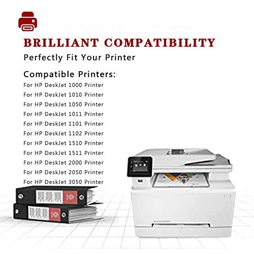 Compatible para el reemplazo de Cartucho de Tinta HP 802 para HP DeskJet 1000 1010 1050 1011 1101 1102 1510 1511 2000 2050 3050 Impresora, Home School Impresión suav Black