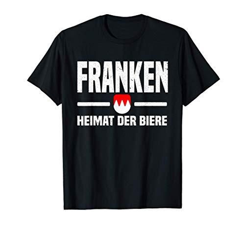 Franken Heimat der Biere Fränkischer Dialekt Franke Seidla T-Shirt