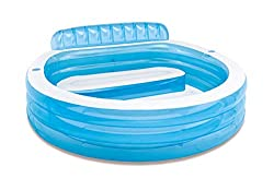 Intex 57190np swim center family lounge pool for Poolbecken rund