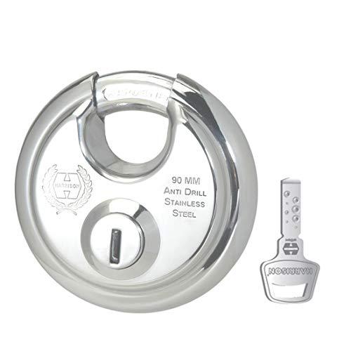 Harrison 0404 Stainless Steel 12 Pins Padlock with 4 Keys